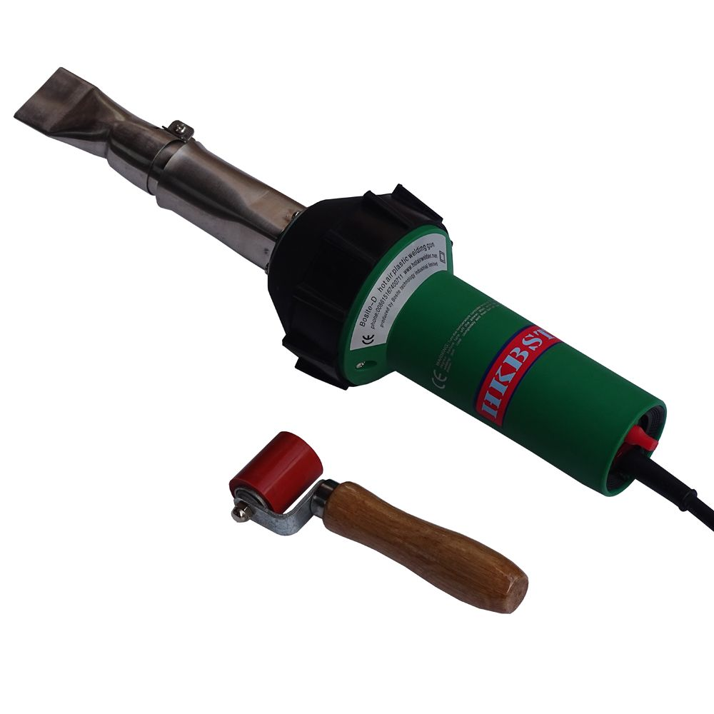 heat air welding gun with pressure roller and 40mm flat nozzle for ...