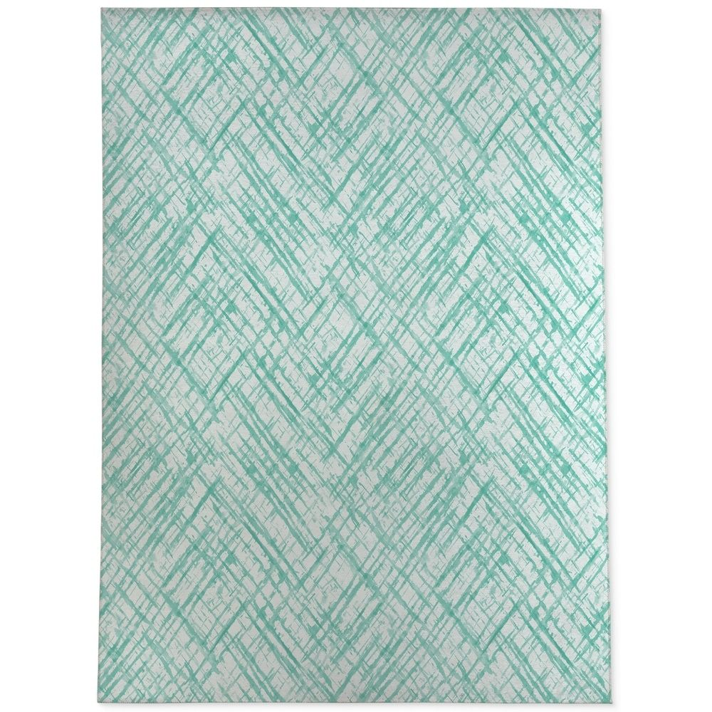 Watercolor Criss Cross Mint Area Rug By Kavka Designs 2 6 X8