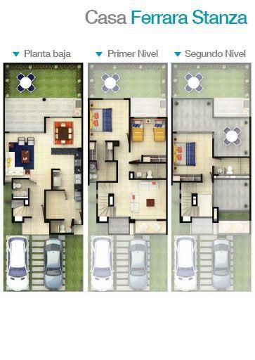 Planos de casas plantas arquitect nicas de casas y for Distribucion de casas modernas