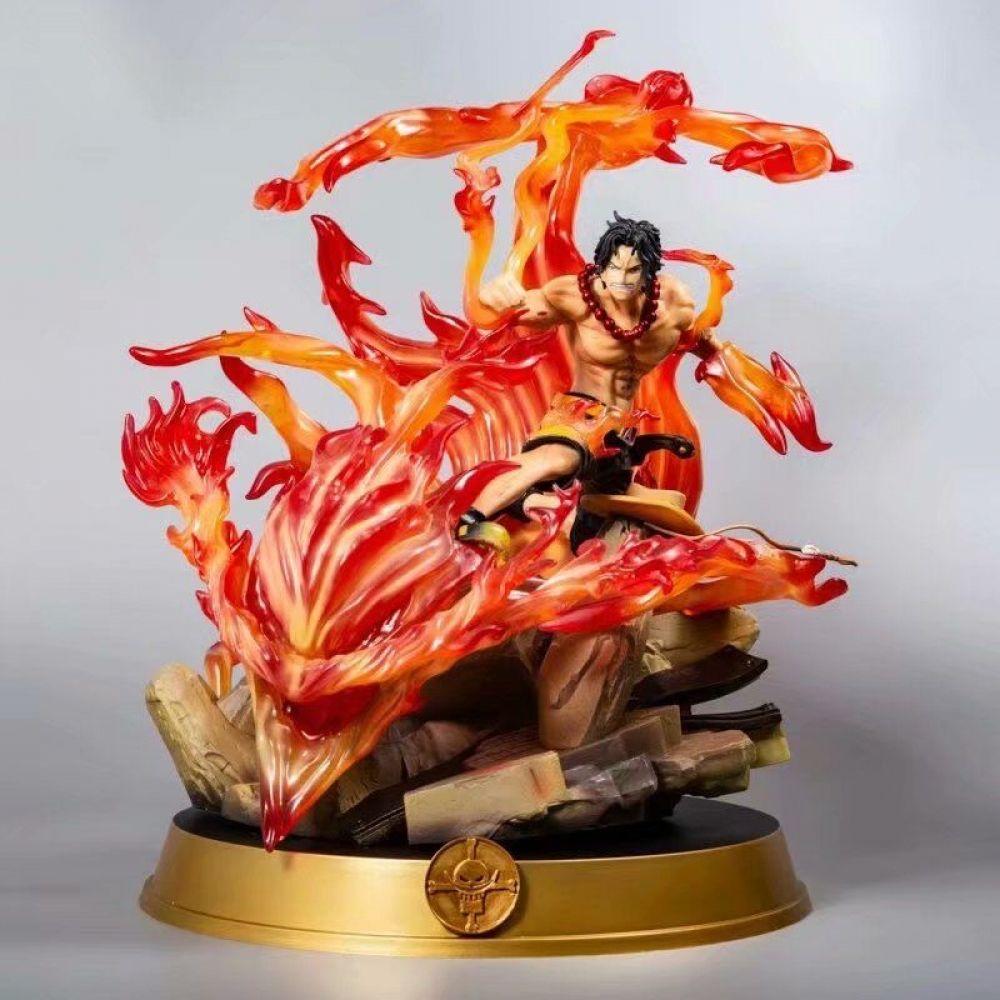 39cm one piece portgas d ace action figure japanese anime