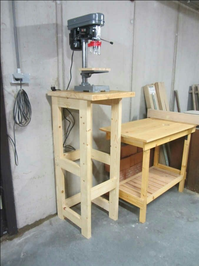 Drill Press Stand Garage Workshop Pinterest Drill