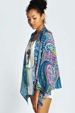 59c8f471ba0e Erica Paisley Print Kimono at boohoo.com   clothing   Paisley print ...