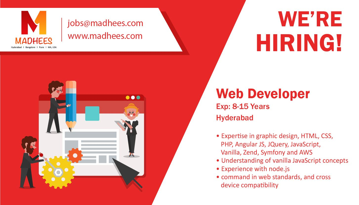 We have a #job requirement for #WebDeveloper with 8-15 yrs ...