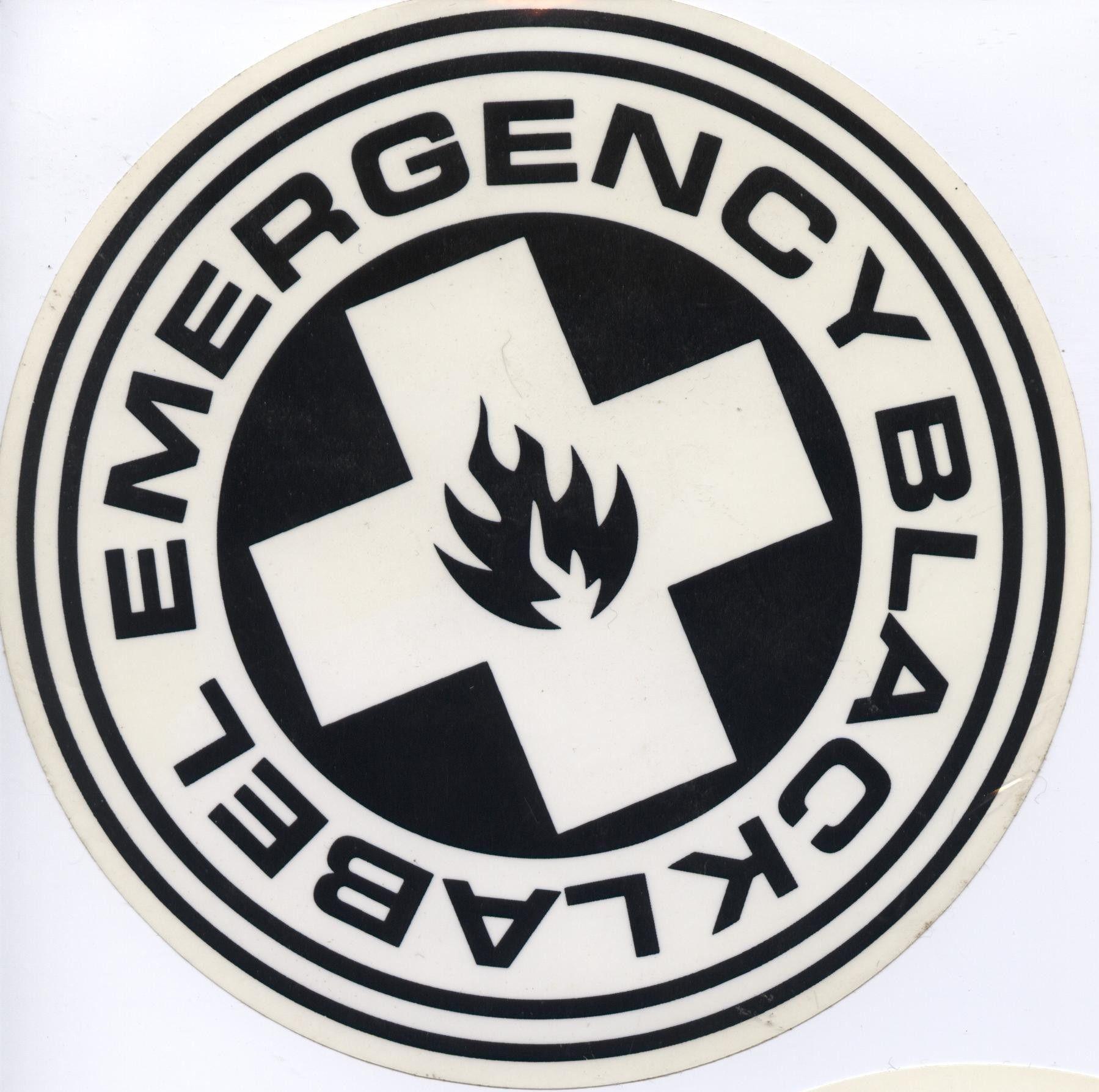 Black Label Skateboards Emergency Logo 6 Sticker Black Label Skateboards Skate Stickers Surf Logo [ 1787 x 1799 Pixel ]