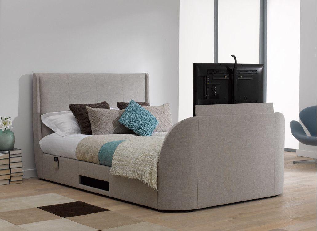 Titanium T3 TV Bed Frame - Oatmeal | Tv bed frame | Pinterest