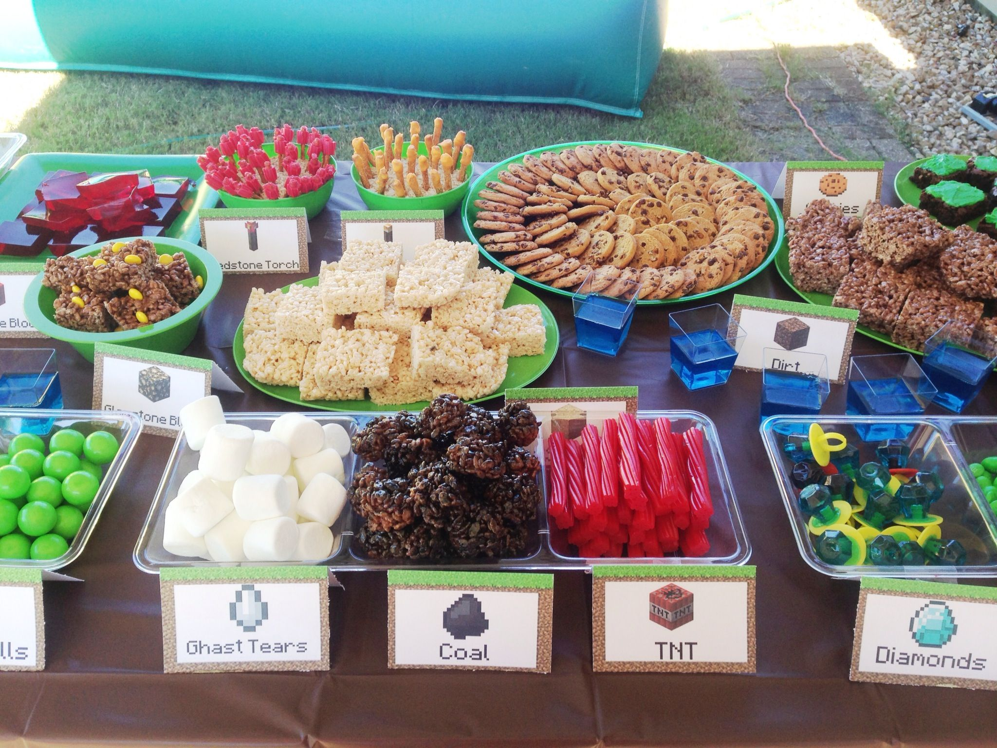 Minecraft Party Snacks Chances Bday Pinterest Snacks