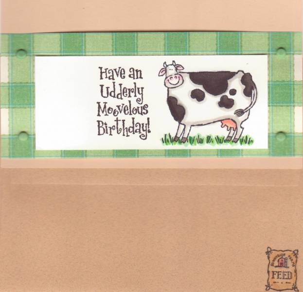 Farmer Birthday Card Inside And Envelope Cards Pinterest Cards