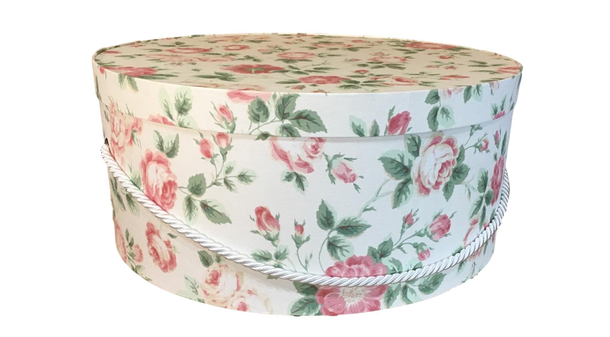 Extra Large Hat Box In Pink Floral Large Decorative Fabric Covered Hat Boxes Round Storage Box Keepsake Boxes With Lid Nest Hat Box Fabric Decor Large Hats