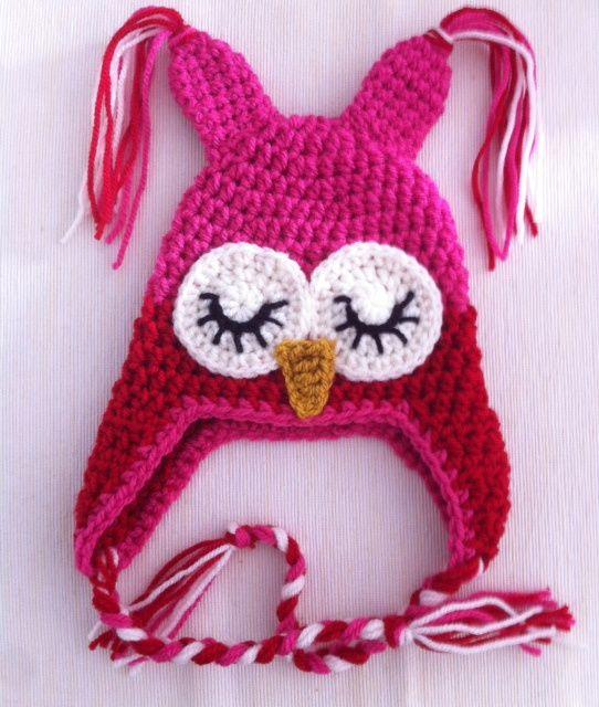 Uilen babymuts voor Madelief | Crocheted item. | Pinterest