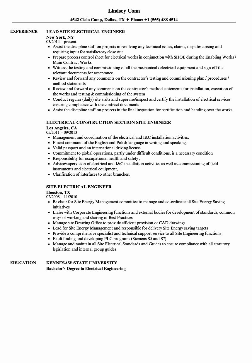25 electrical engineer resume sample in 2020 engineering objective for finance write a cv job format undergraduate students