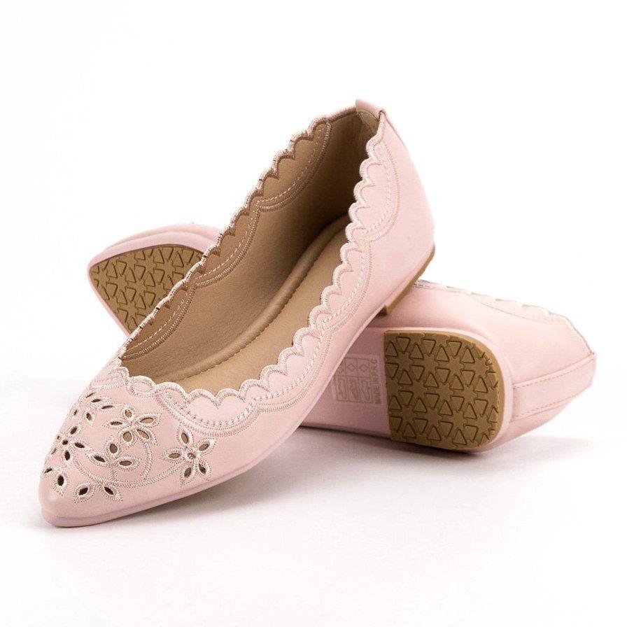 Baleriny W Szpic Vices Rozowe Women Shoes Shoes Ballet Flats