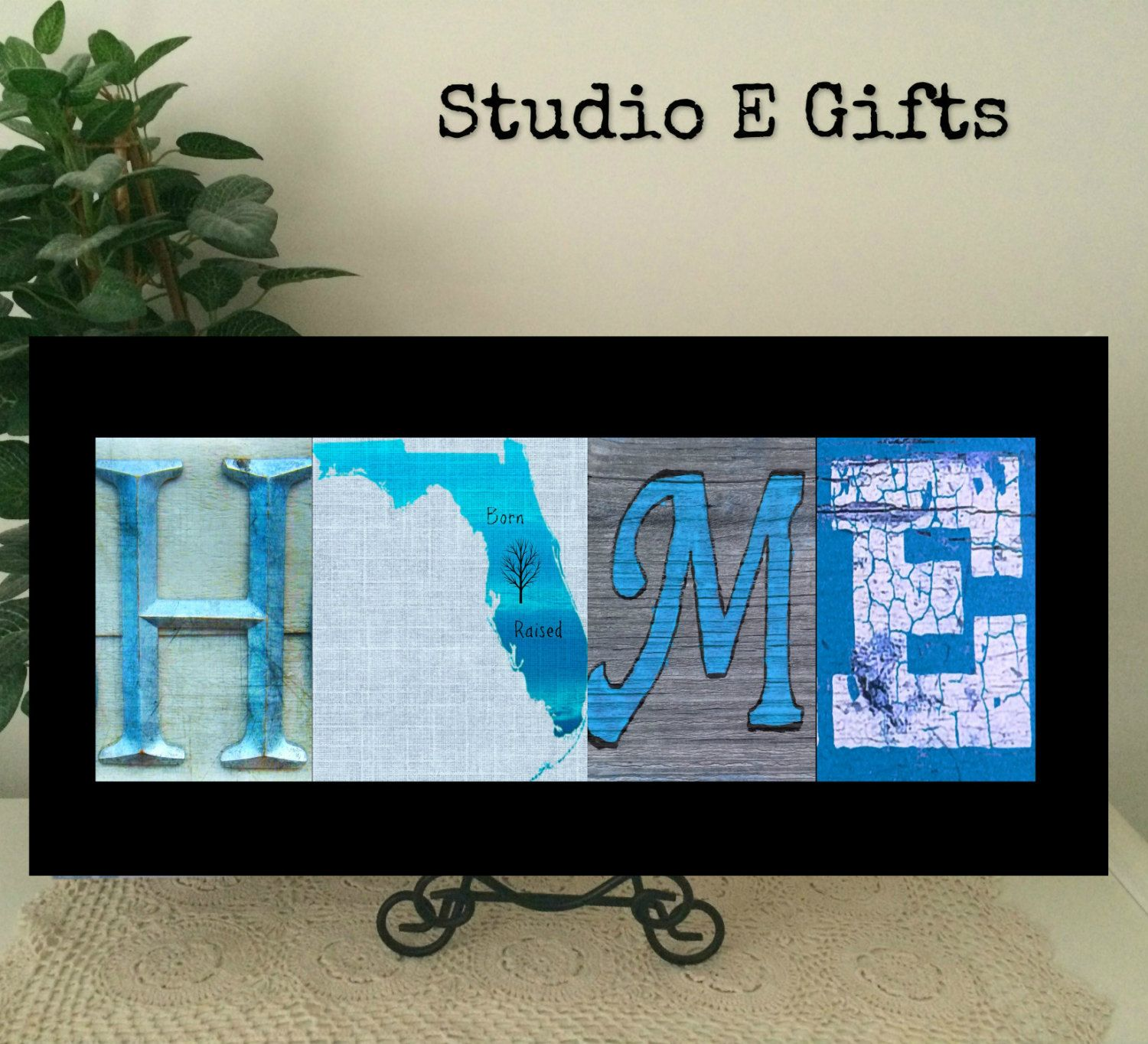 FLORIDA HOME SIGN~Rustic Home Decor~Gator~Sunshine State by StudioEGifts on Etsy