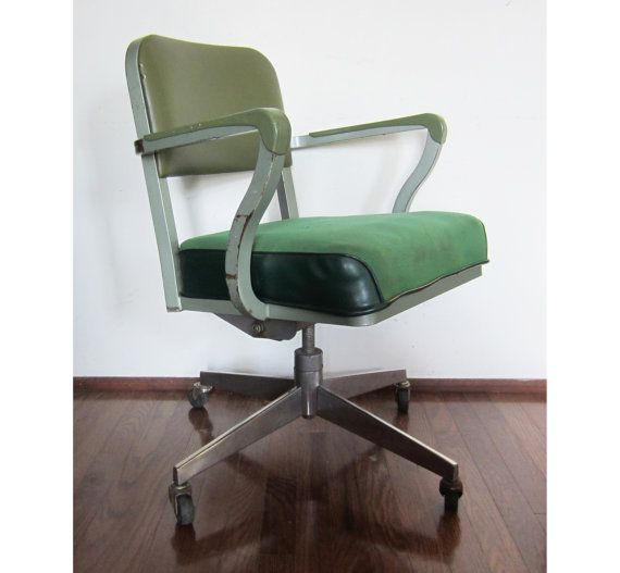Vintage Steelcase Green Rolling Computer Office Chair Vintage Office Chair Office Chair White Leather Office Chair