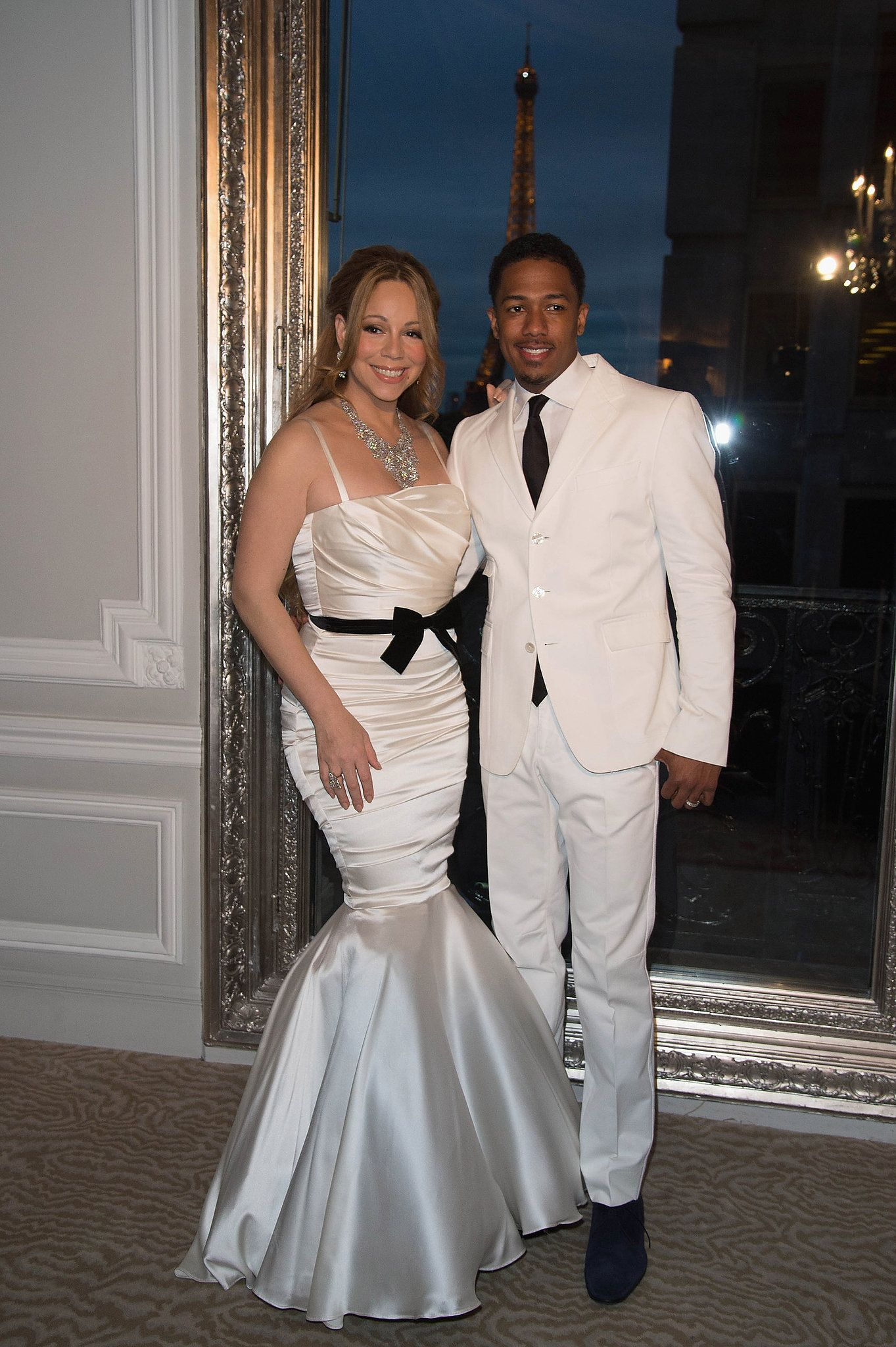 Mariah Carey And Nick Cannon Dressed Up Once Again As Bride Groom For Their Vow Renewal Ceremony In Paris April 2017 They Wed The Bahamas May