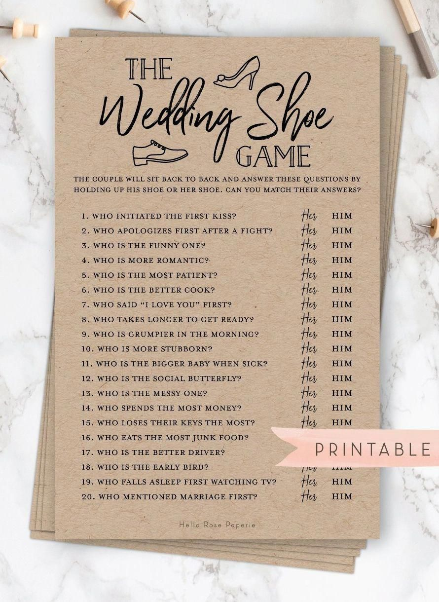 To Gain Point Of View Initially Understand That Rules Is Above All About Treating Indiv In 2020 Bridal Shower Rustic Shoe Game Wedding Printable Bridal Shower Games