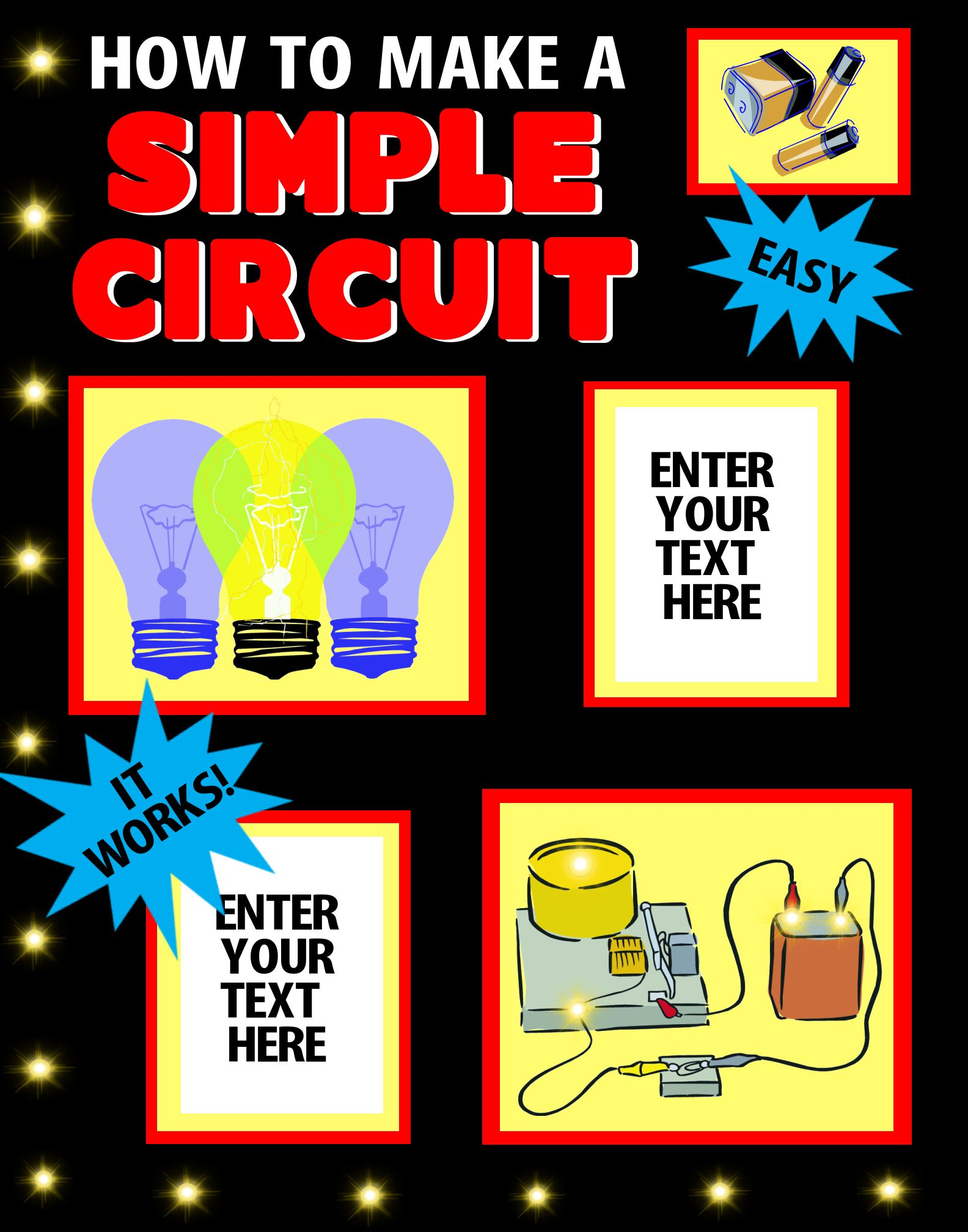 make a science fair project poster ideas how to make a simple rh pinterest com Light Bulb and Battery Science Project Slime Science Project