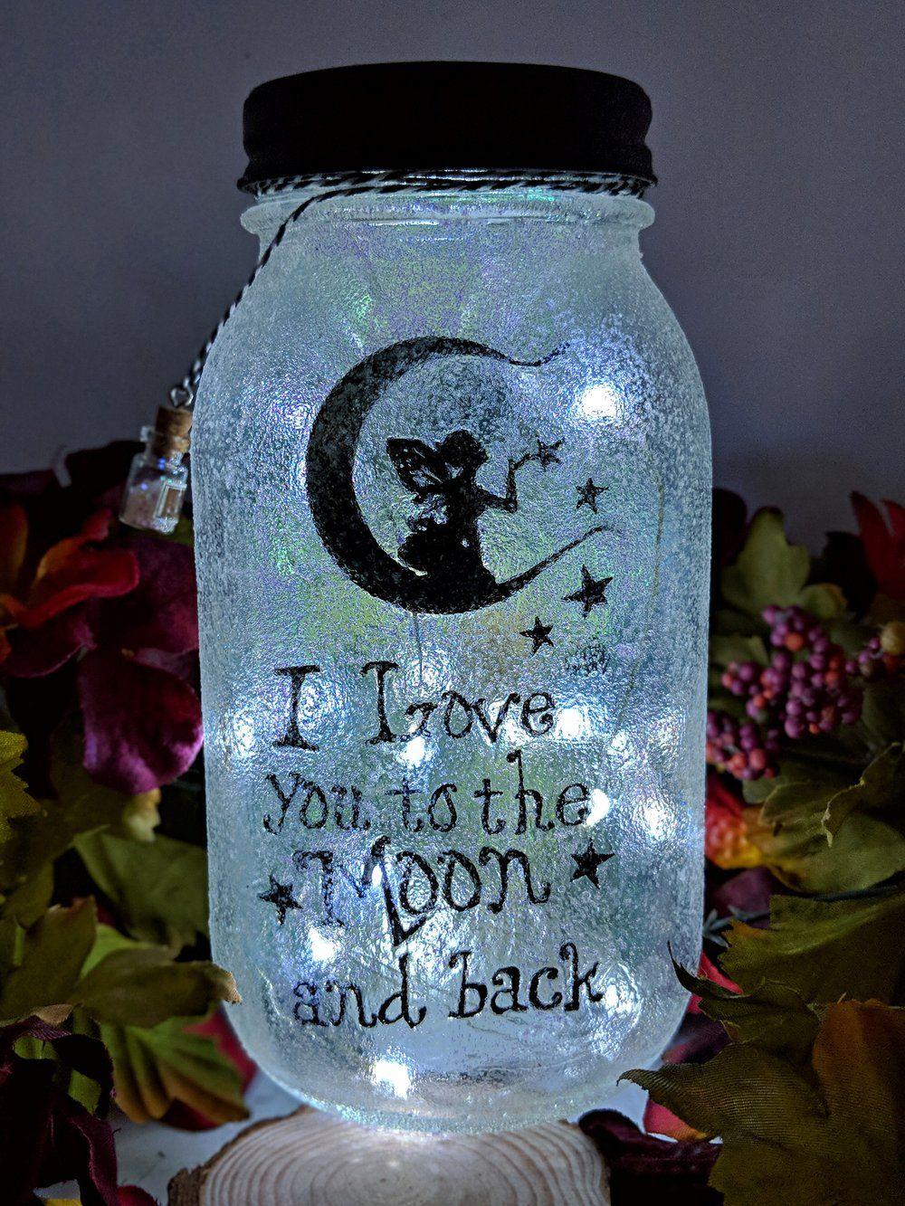 Fairy Love you to the Moon and Back Mason Jar images
