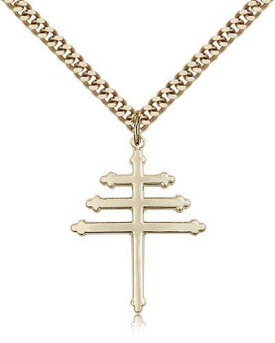Marionite Cross   Catholic Jewelry   Jewelry, Catholic jewelry, Gold