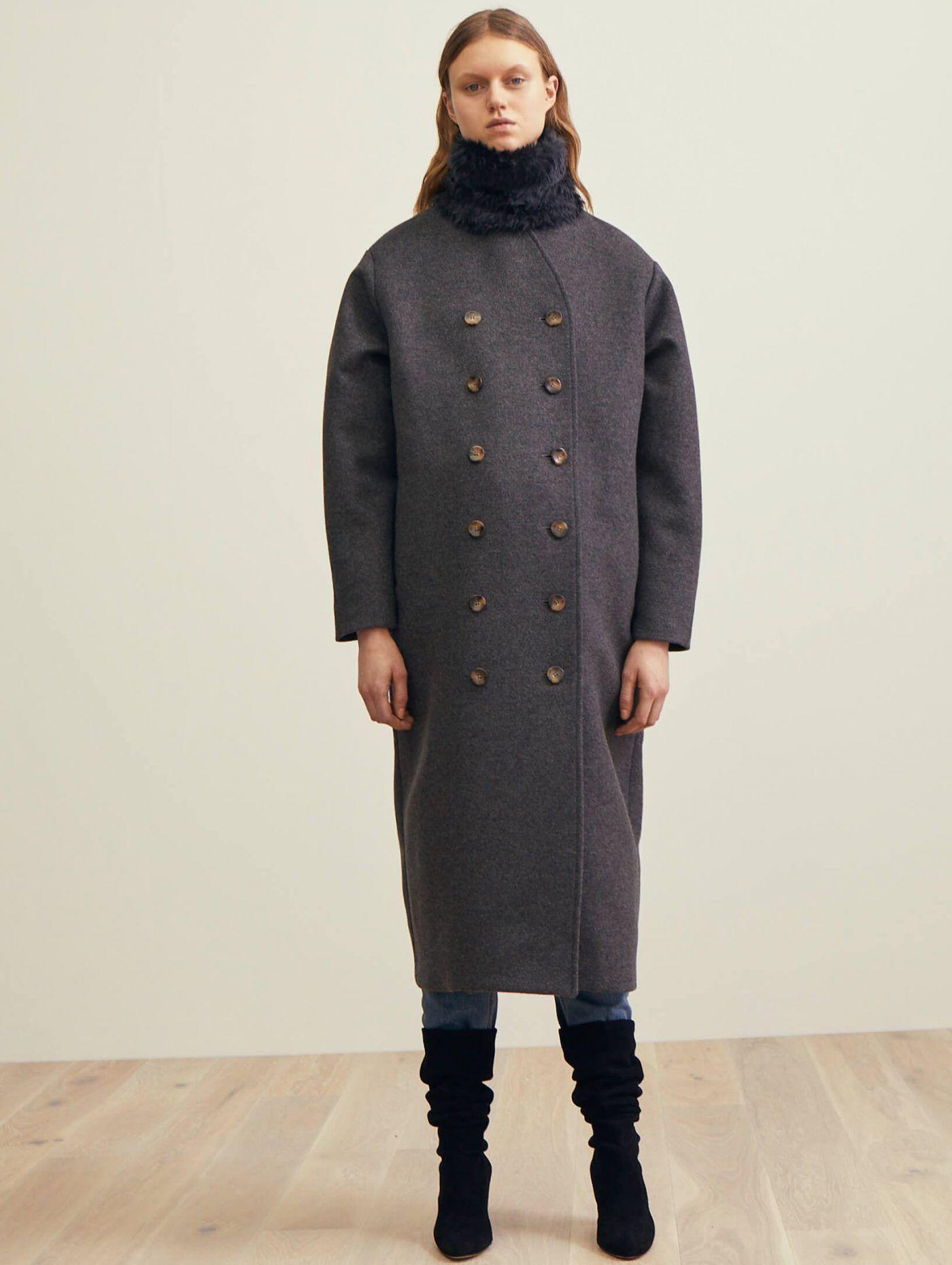 24ec883ad6c4 Bergerac wool coat grey melange   Toteme18   Wool coat, Coat, Wool