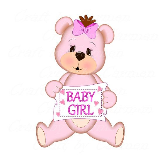 Pink Teddy Bear Pink Bear Cute Bear Scrapbook Digital Art Etsy Pink Teddy Bear Baby Shower Gifts For Boys Baby Clip Art