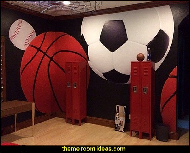 Ordinaire All Sports Bedroom Wall Murals All Sports Theme Bedroom Decorating Ideas  Sportsu2026