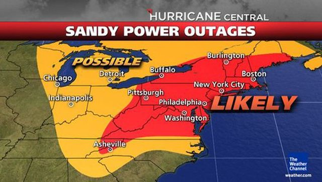 Predicted Power Outages For Sandy Holy Friggen Smokies Perfect