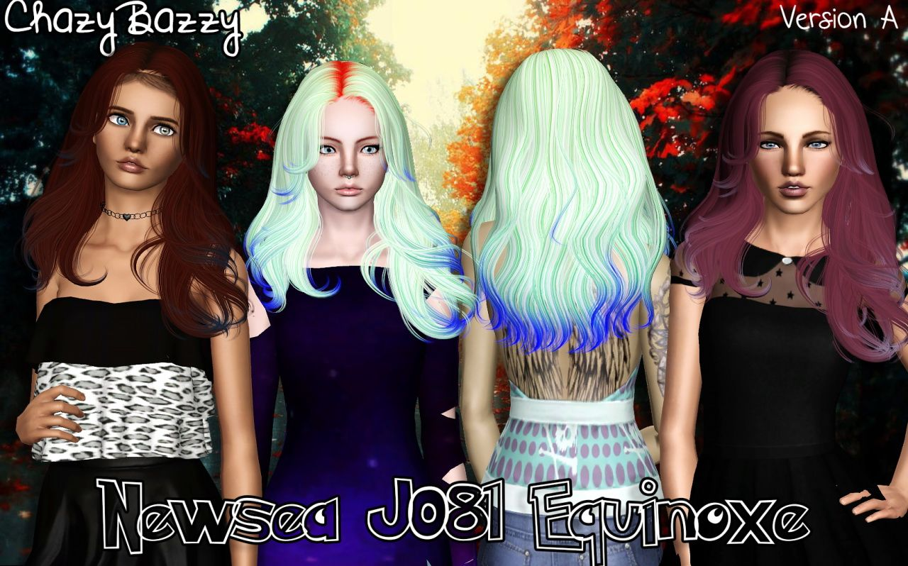 Newsea S J081 Equinoxe Hairstyle Retextured By Chazy Bazzy Sims 3 Hairs Sims Hair Sims Sims 3