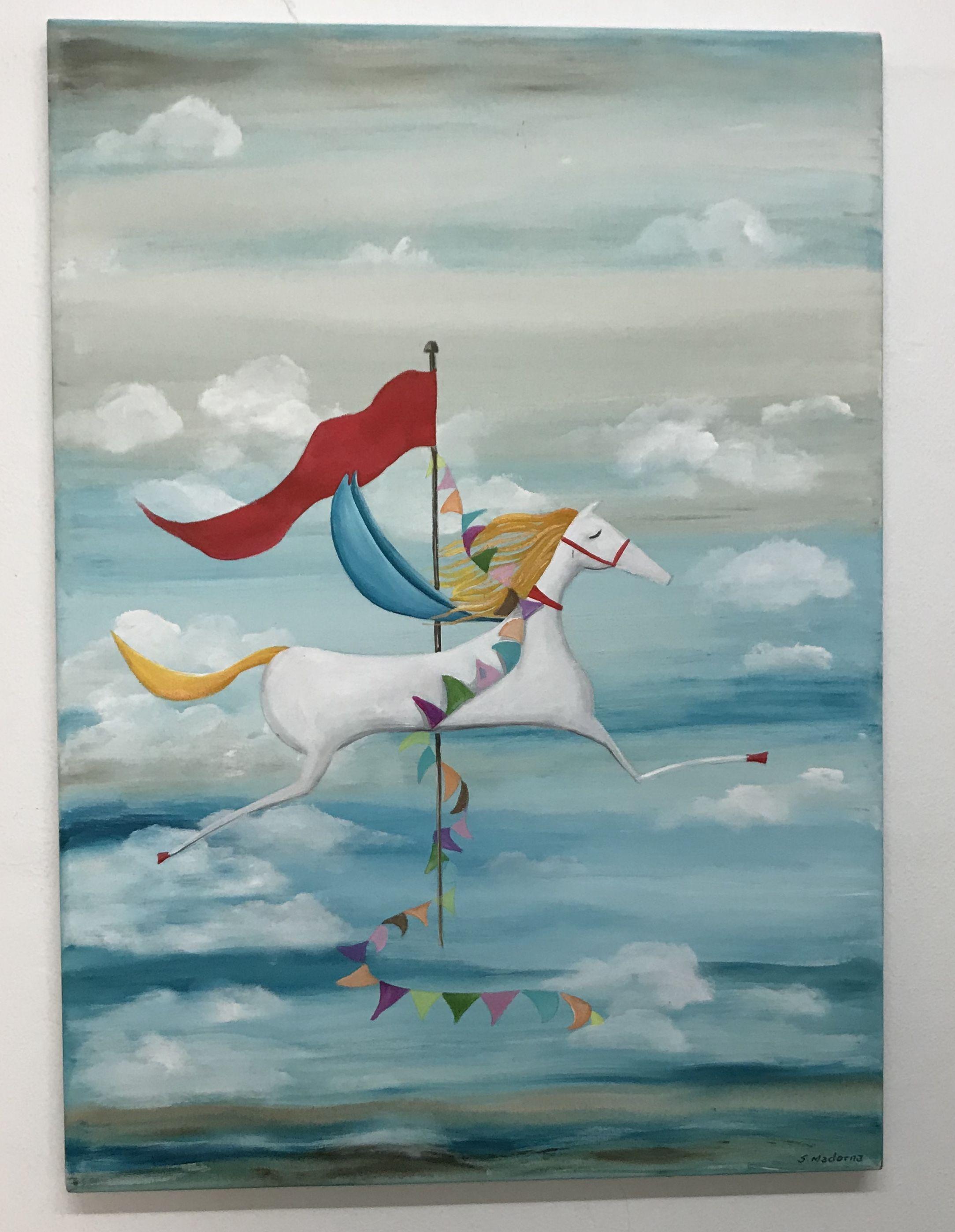 Cuadro En Acrilicos 50X70#Canvas#Art#Arte#Horse#Pegasis#Caballo