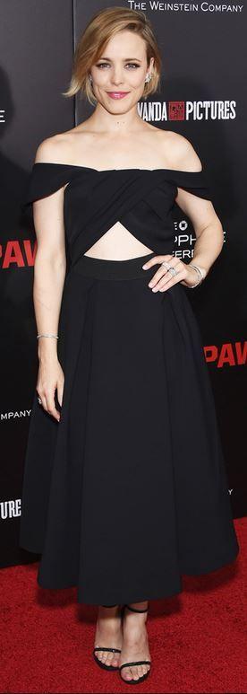 Rachel McAdams' wearing  Dress – Self Portrait  Shoes – Stuart Weitzman