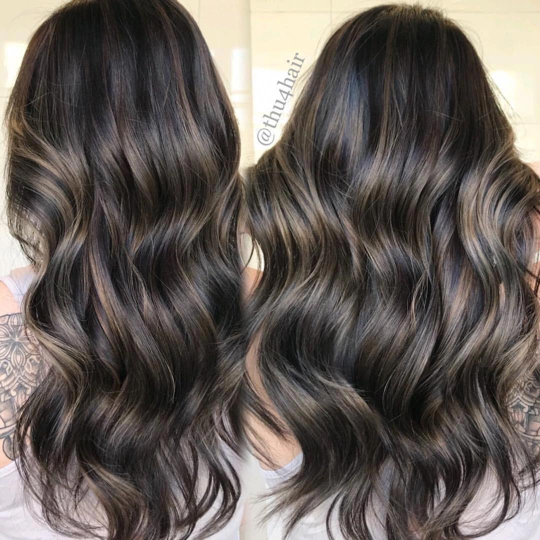 Smokey Ash Brunette Balayage Balayagedandpainted Ashbrown Balayagehair Balayageartists Balayagespecialist Haircolor Brown Blonde Hair Hair Brunette Hair