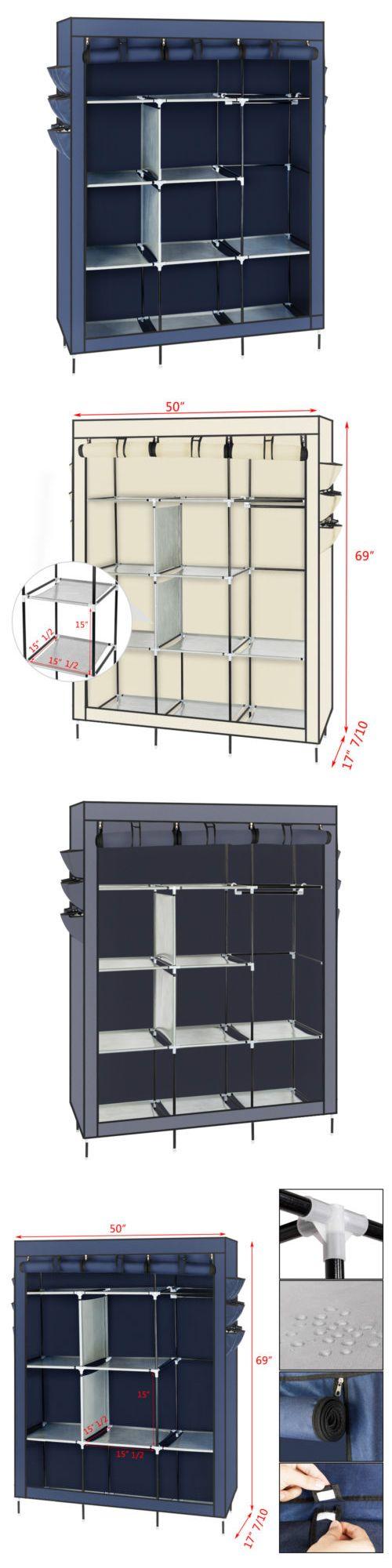Closet organizers portable closet wardrobe clothes rack
