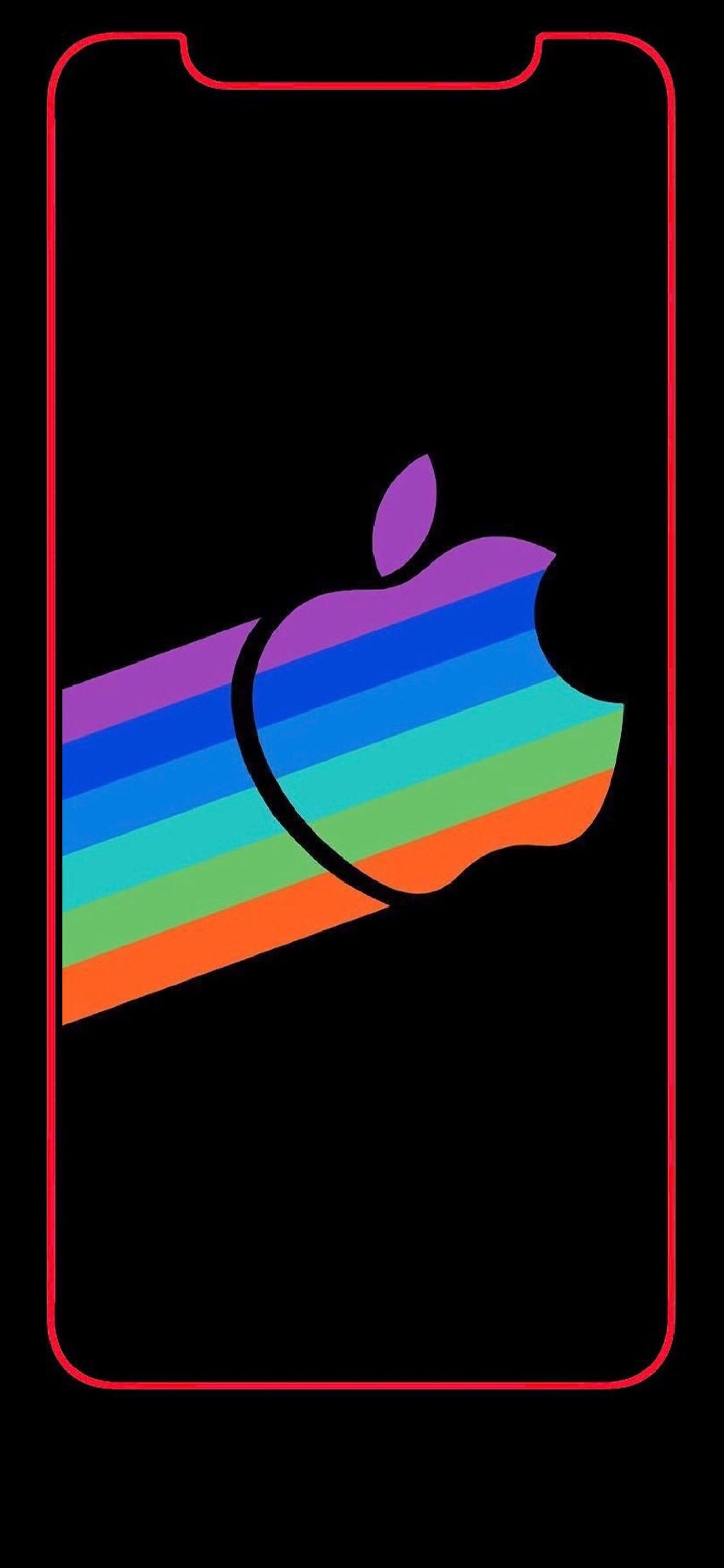 Wallpaper Iphone X Apple Logo Rainbow 1 Apple Iphone Wallpaper