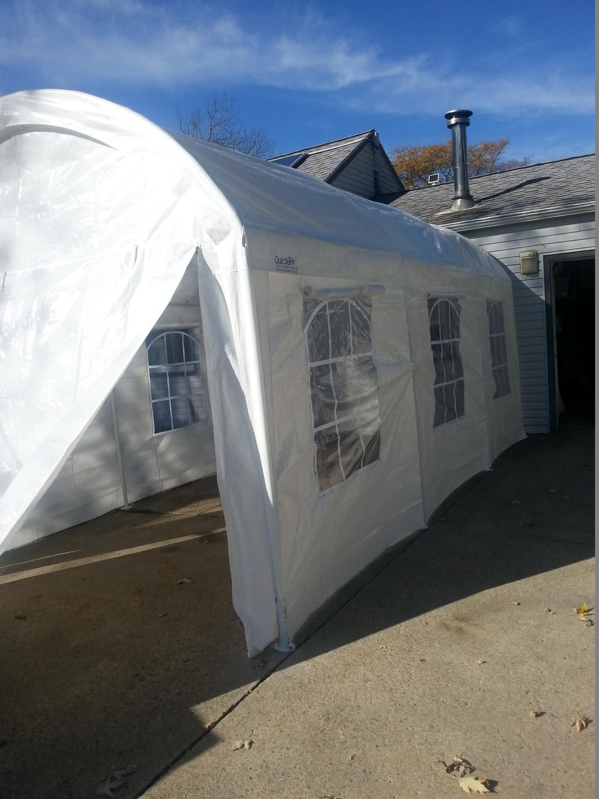20'x20' PE Party Tent White Heavy Duty