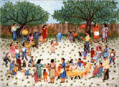 Tamalada Painting | Tamalada by Carmen Lomas Garza / American Art ...