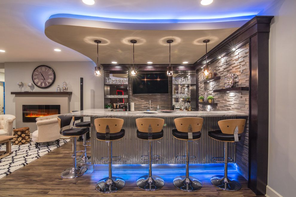 20 Glorious Contemporary Home Bar Designs You'll Go Crazy