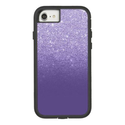Ultra Violet Glitter Ombre Purple Color Block Case Mate Tough Extreme IPhone 8 7