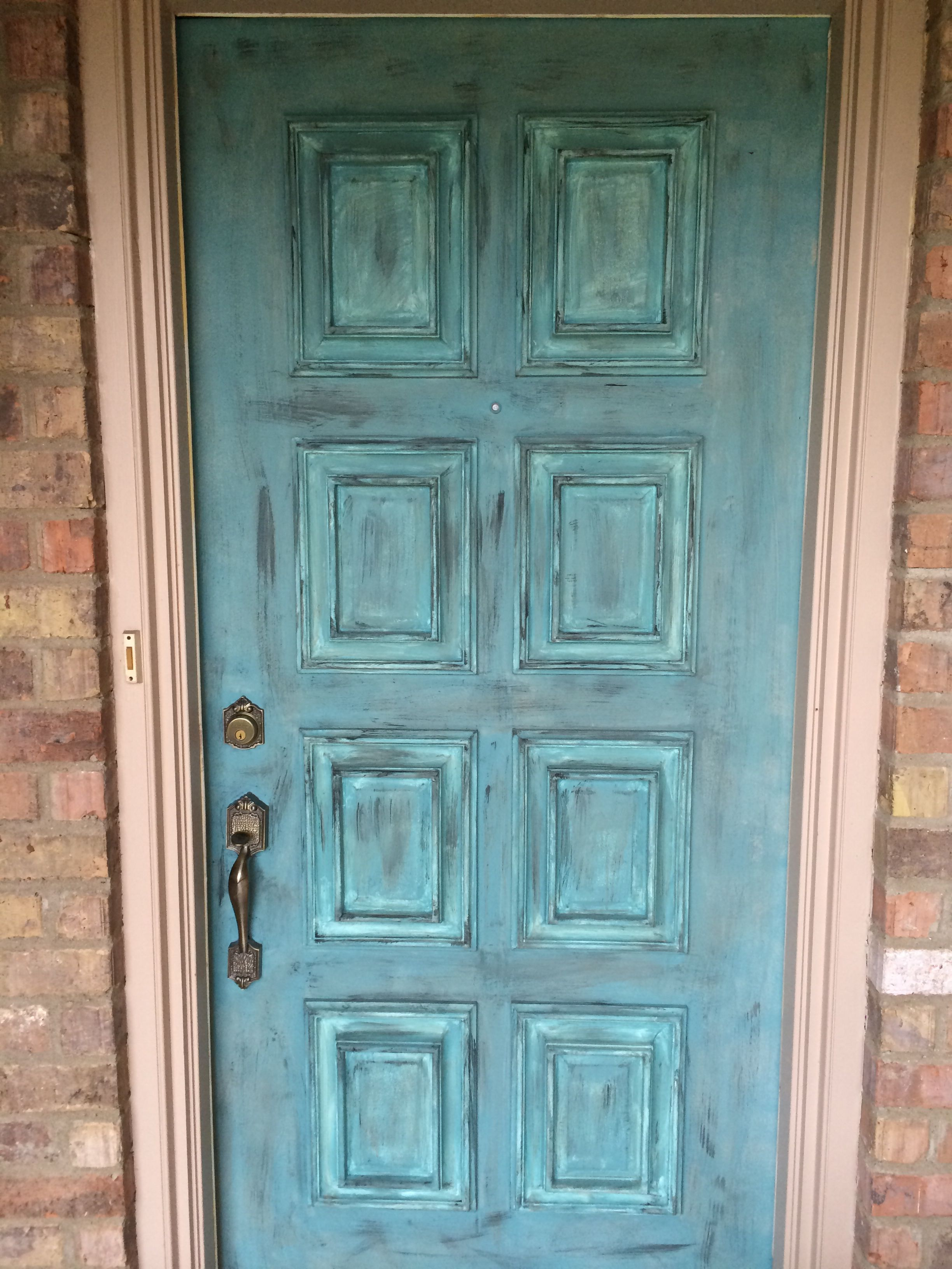Distressed my front door with Annie Sloan chalk paint. Love! | chalk ...