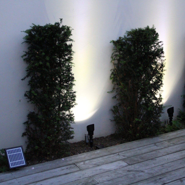 Solar Spotlights unter die Bäume im Wald, erledigt.