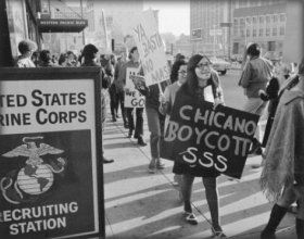 The Chicano Moratorium took place in Logan Park, East LA. People were protesting against the war itself and the casualties Mexican Americans were s… | Chicano …