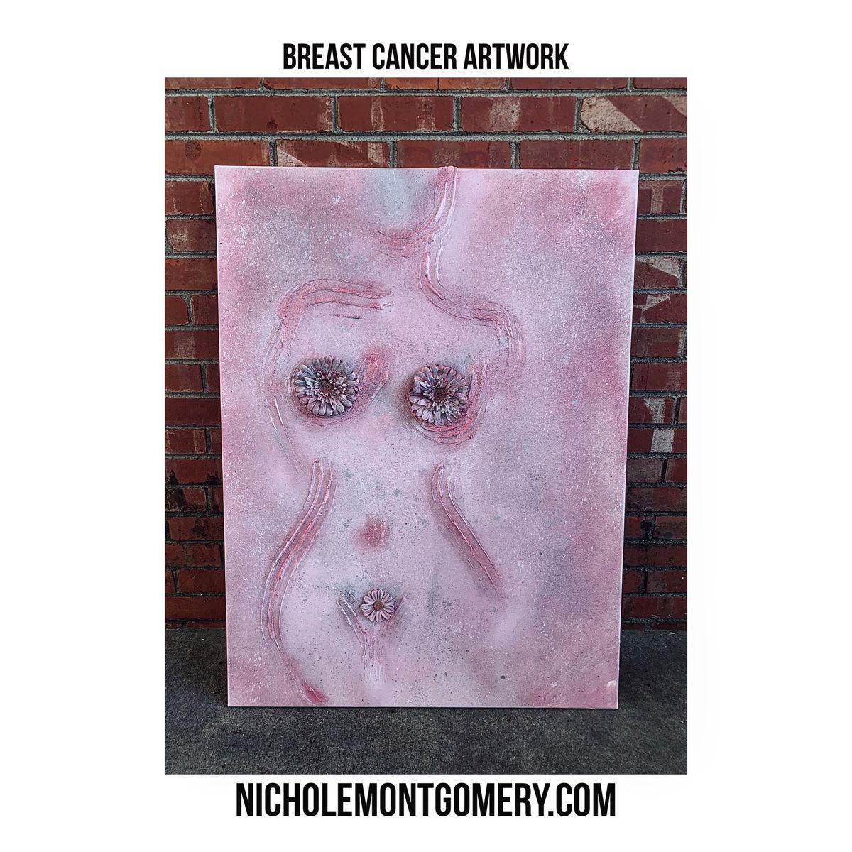 30x40 mixed media on canvas. NICHOLEMONTGOMERY.COM • #NicholeMontgomery #oklahomaartist #tulsaartist #art #artist #canvaspainting #canvasart #canvas #mixedmedia #painting #nude #woman #mother #aunt #grandmother #child #sister #breastcancerawareness #exhibit #breastcancerawarenessmonth #breastcancer #pink #fuckcancer NicholeMontgomery.com