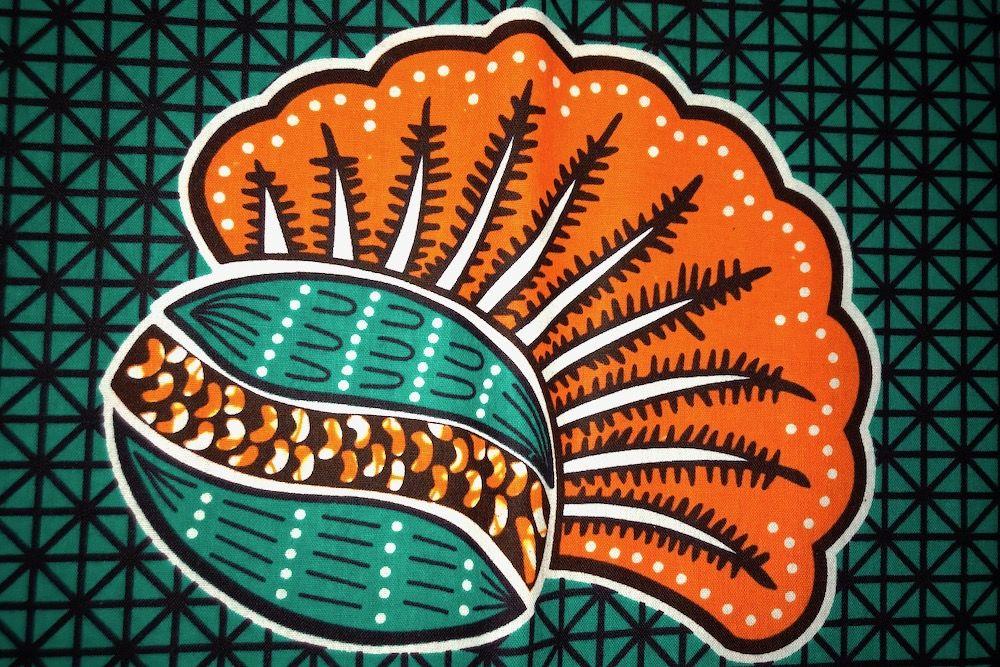 Afrikanischer Wax Print Stoff Ethnostoff Waxprint Afrika Nahen
