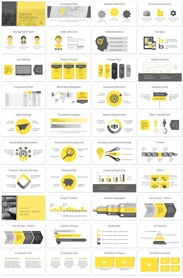 Modern business plan powerpoint template powerpoint templates modern business plan deck wajeb Images