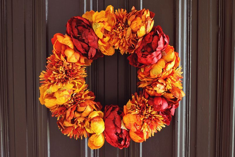 Autumn Floral Wreath by A Beautiful Mess