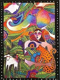 Laurel Burch Card Thank You A World of Thanks -