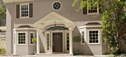 affinity exterior paint color scheme fresh federal deep in thought af 30 silhouette - Stucco Exterior Paint Color Schemes