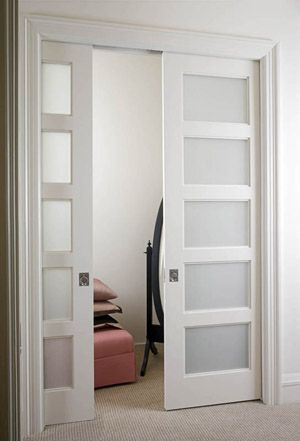 Frosted Pocket Doors If We Closed Off The Patio To Make An Office Have These Going From Both Bedrooms