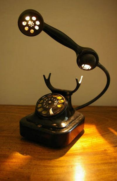 Awesome Bakelite Telephone Lamp Incredible Diary By Dr Prem A Rare Collection Of Incredible Awesome And Unbelievabl Lamp Steampunk Lamp Steampunk Lighting