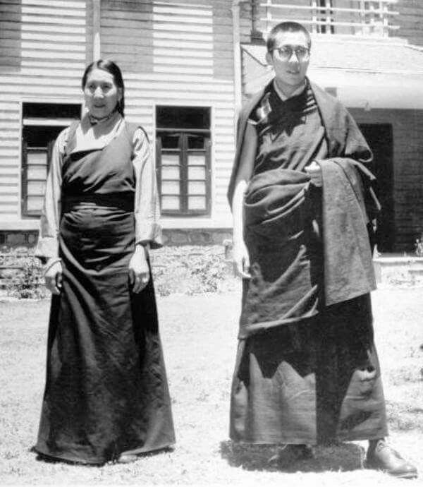 Photo - Nalanda LGBT Buddhist cultural and resource centre.   His holiness The Dalai Lama and his Mother shortly after their arrival in India.