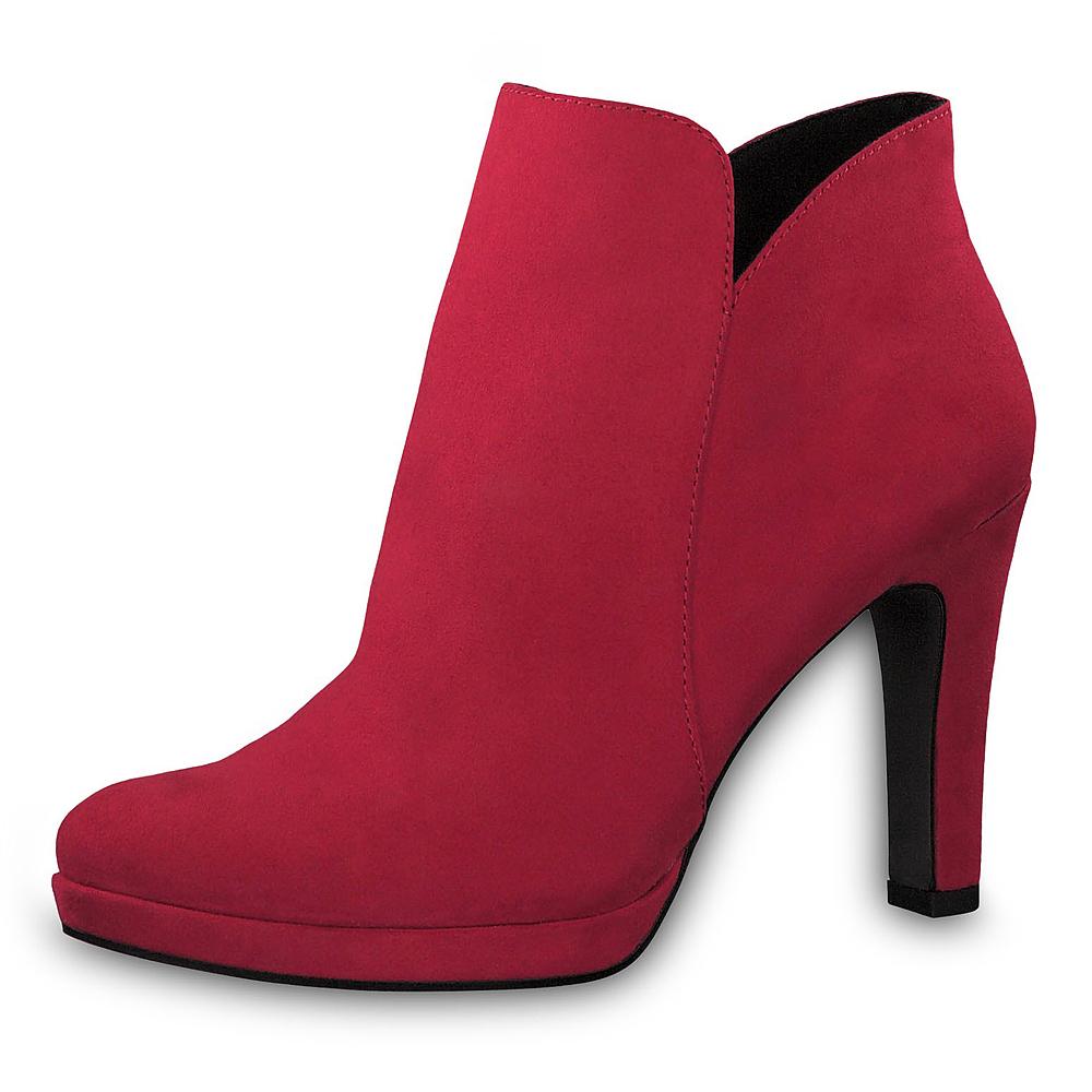 Tamaris Damen Stiefeletten Schuhe 25316 Boots Lipstick (rot