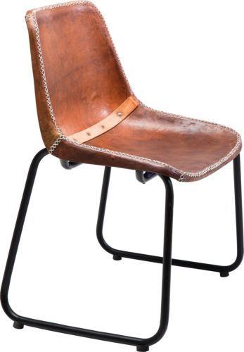 Stuhl Lederstuhl Designstuhl Leder Braun Vintage Rustikal Ne